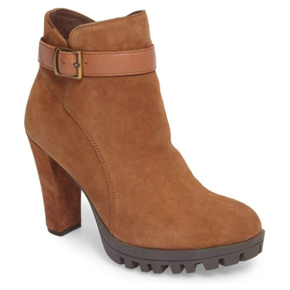 CALLISTO marikko bootie - A trim belt cinches the notched shaft of a comfortably...