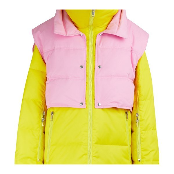 Calvin Klein Down jacket with zippered sleeves in jonquil anemone