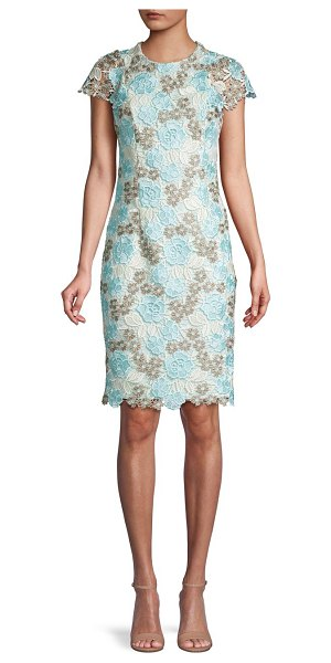 Calvin Klein Floral Lace Dress in seaspray