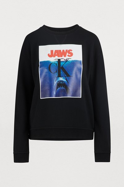 Calvin Klein Jaws sweatshirt in black
