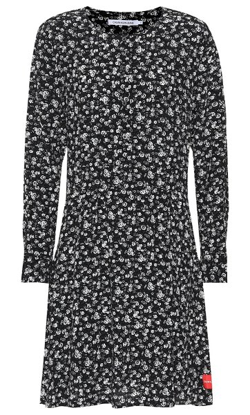 Calvin Klein Jeans floral dress in black