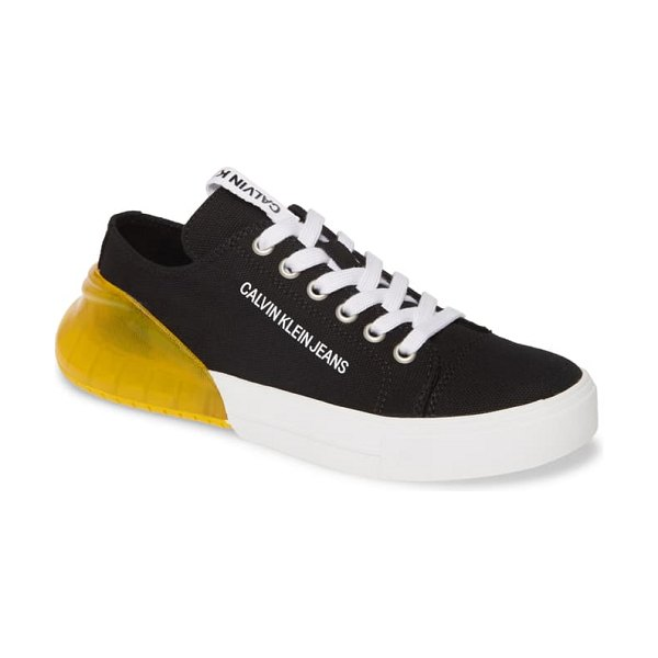 Calvin Klein Jeans myrtie sneaker in black canvas