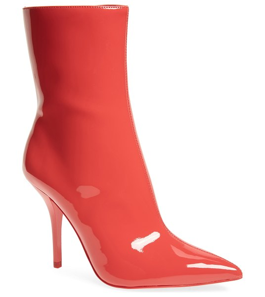 Calvin Klein mada bootie in rose quartz patent leather - A pointy-toe boot takes an eye-catching, modern turn...