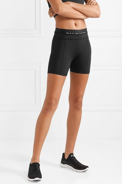 Calvin Klein printed stretch shorts in black - Calvin Klein's cycling shorts are designed with a dual...