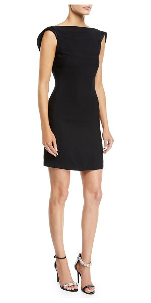 CALVIN KLEIN 205W39NYC Scoop-Back Square-Neck Viscose Cady Mini Dress in black