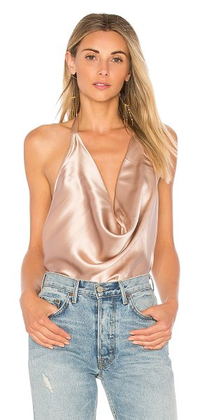 CAMI NYC The Jackie Tank in blush - 100% silk. Dry clean only. Draped neckline. Halter neck...