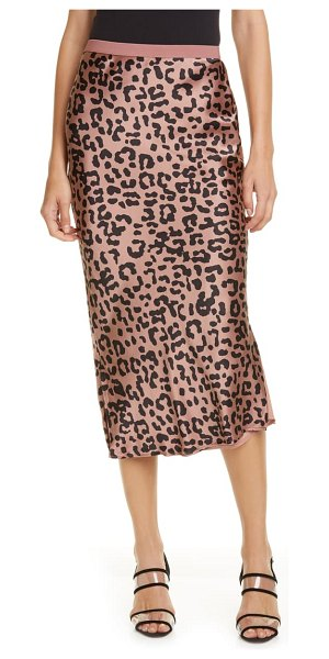 CAMI NYC the jessica silk skirt in graphic leopard