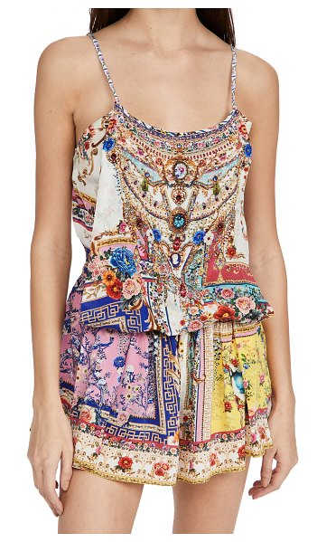Camilla shoestring strap romper in party in the palace