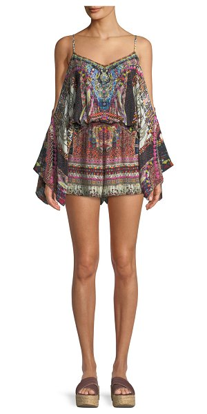 213de4fe21f Camilla Tiny Dancer Drop-Shoulder Playsuit in multi - Camilla