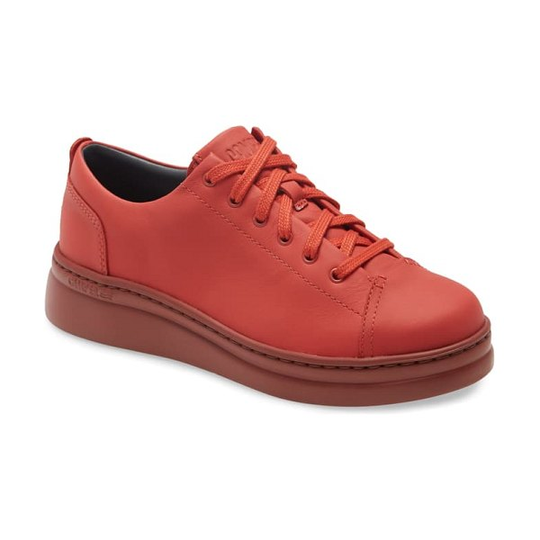 Camper runner up sneaker in all red leather