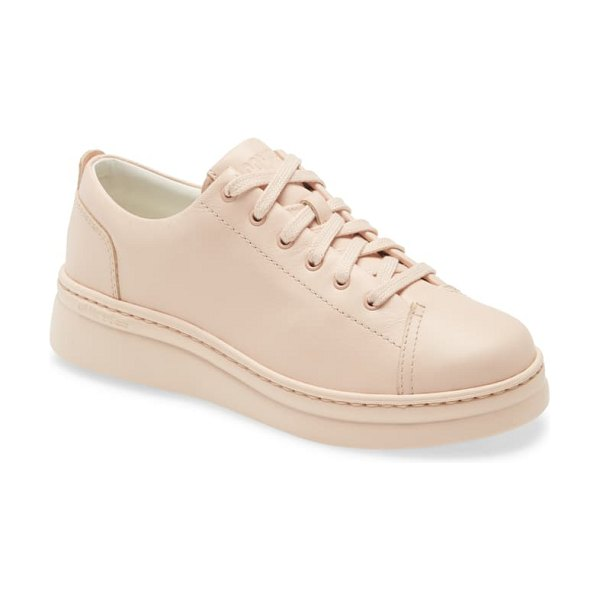 Camper runner up sneaker in all nude leather