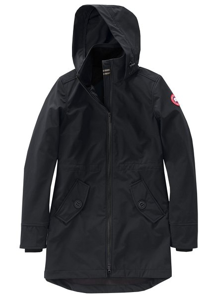 Canada Goose avery slim-fit a-line jacket in black - Durable winter coat with a cinched waist back to lend a...