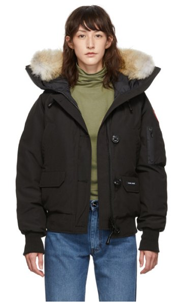 Canada Goose black chilliwack bomber jacket in 61 black