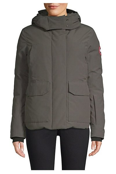 Canada Goose blakely hooded parka in graphite