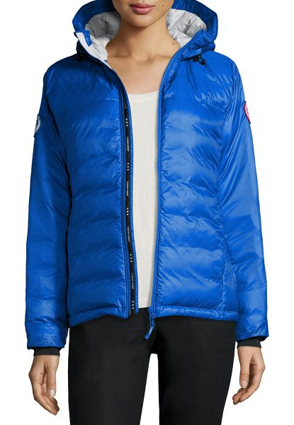 Canada Goose PBI Camp Hooded Packable Puffer Jacket in royal blue