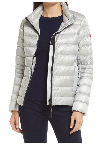 Canada Goose cypress packable 750-fill-power down puffer jacket in silver birch
