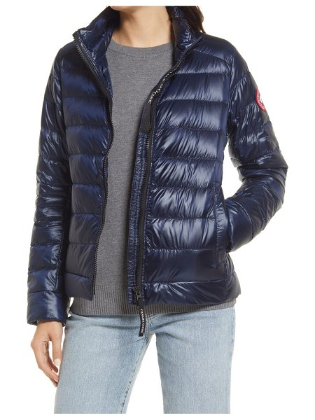 Canada Goose cypress packable 750-fill-power down puffer jacket in atlantic navy