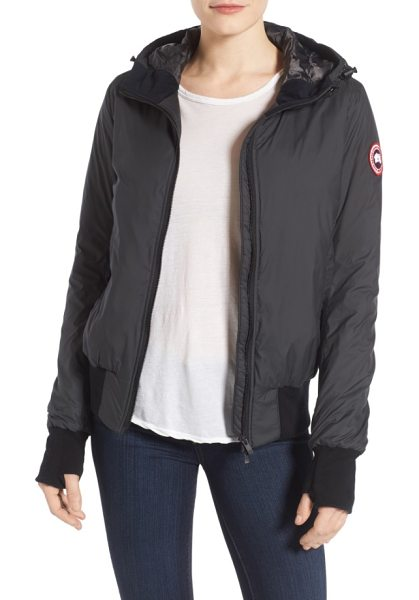 Canada Goose dore down hooded jacket in black