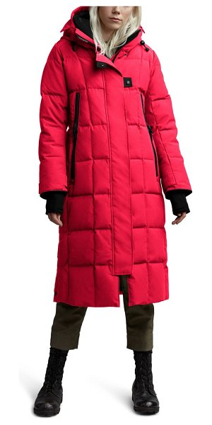 Canada Goose elmwood longline 625 fill power down jacket in red