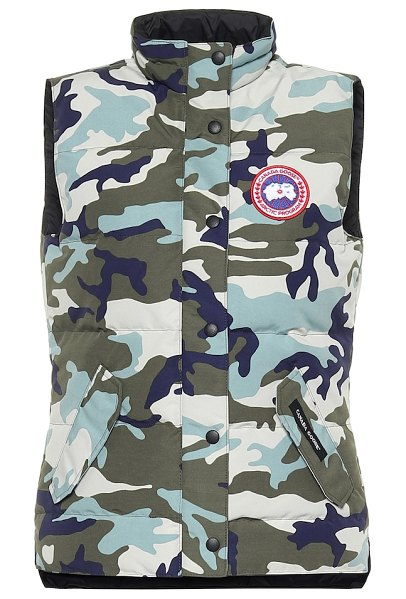 Canada Goose freestyle camouflage down vest in blue