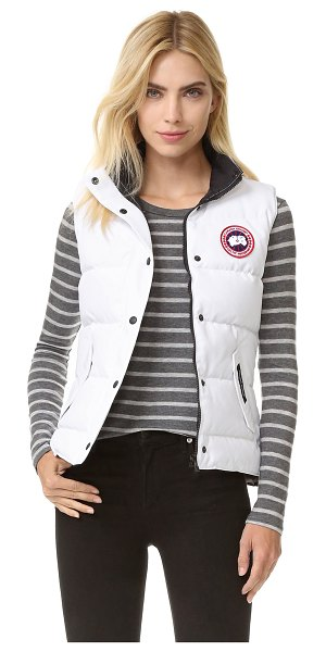 Canada Goose freestyle vest in white - A quilted Canada Goose vest with warm duck down fill....