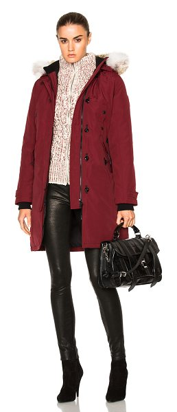 Canada Goose Kensington Parka with Coyote Fur in red - Self: 85% poly 15% cotton - Lining: 100% nylon -...