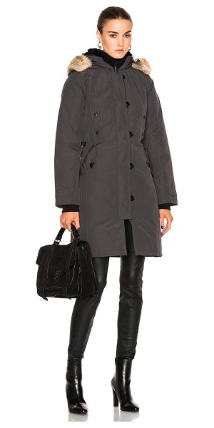CANADA GOOSE Kensington Parka - Self: 85% poly 15% cotton - Lining: 100% nylon - Contrast...