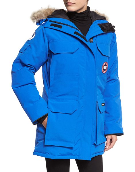 Canada Goose PBI Expedition Hooded Parka in royal blue