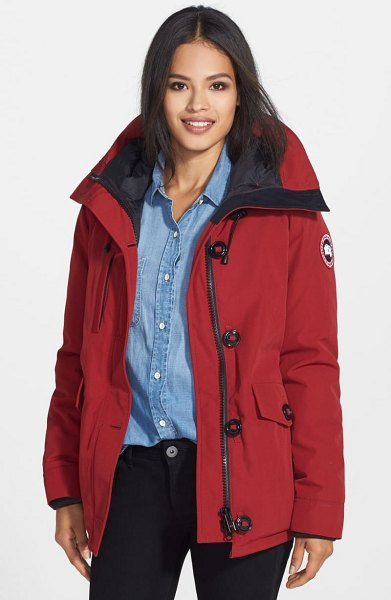 Canada Goose 'rideau' slim fit down parka in metallic - Clean lines define a hooded parka with Arctic-inspired...