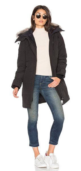 Canada Goose shelburne parka with coyote fur trim in black