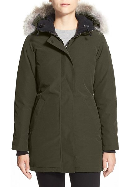 Canada Goose victoria down parka with genuine coyote fur trim in military green