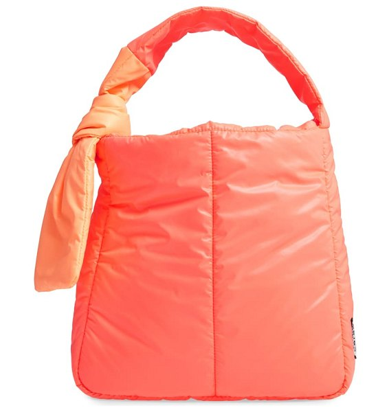 CARAA fractus water resistant nylon tote in orange