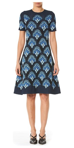 Carolina Herrera Crewneck Knit Dress in blue