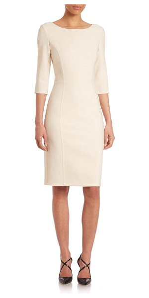 Carolina Herrera double-face sheath dress in black