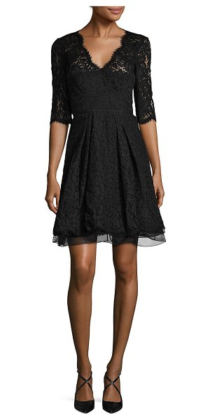 Carolina Herrera floral lace dress in black