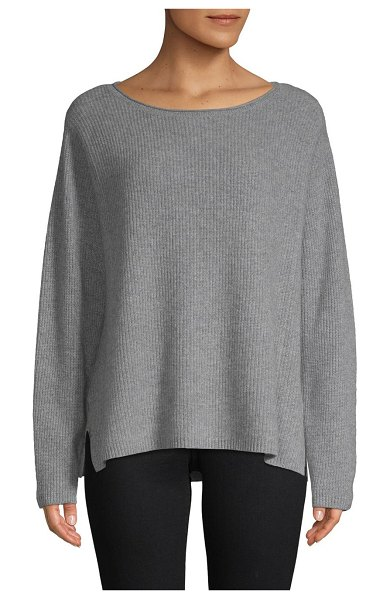 Cashmere Saks Fifth Avenue Cashmere Pullover in sleet heather - Elevate your casual look with this rich cashmere...