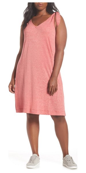 Caslon caslon knot strap knit swing dress in red slub terry - Playing is recommended in this supersoft slub-jersey...