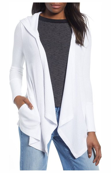 Caslon caslon off duty waffle cardigan in white