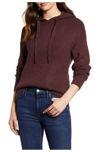 Caslon caslon sweater hoodie in burgundy fudge