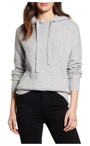 Caslon caslon sweater hoodie in grey heather