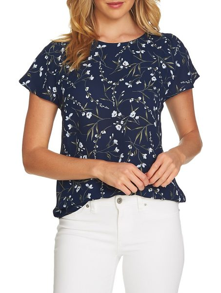 567ed2df9115c CeCe by Cynthia Steffe graceful flora flutter sleeve blouse in naval navy -  Be a butterfly