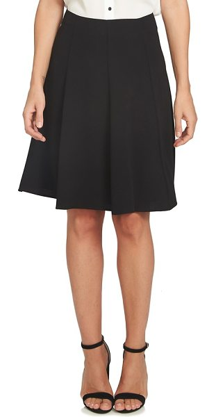 CeCe by Cynthia Steffe crepe a-line skirt in black