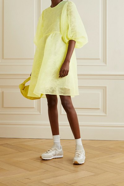 Cecilie Bahnsen mabel organza dress in pastel yellow