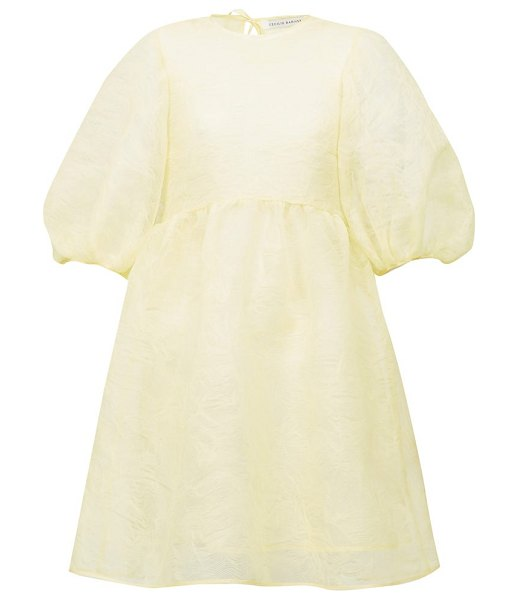 Cecilie Bahnsen mabel puff-sleeve laddered-organza dress in yellow