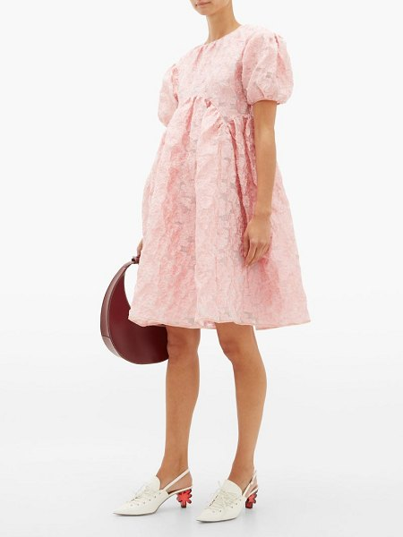 Cecilie Bahnsen thelma floral cloqué mini dress in light pink