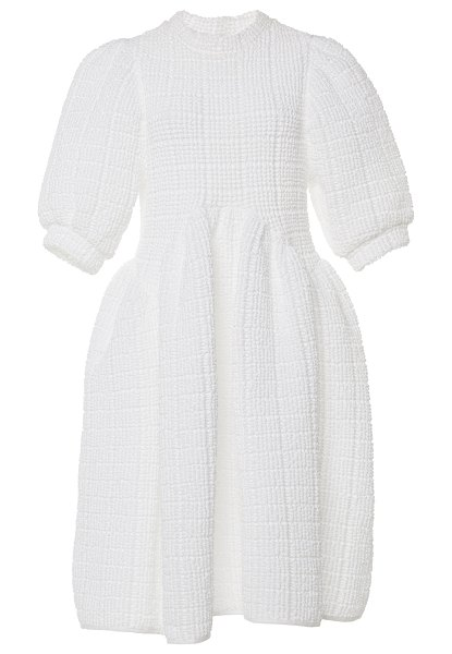 Cecilie Bahnsen uma paneled cotton-blend terry midi dress in white