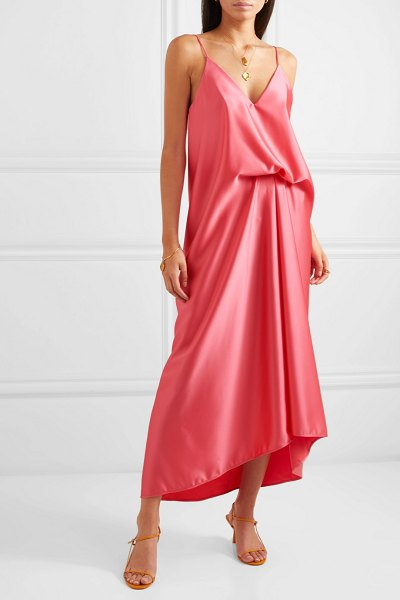 CÉDRIC CHARLIER draped satin dress in pink