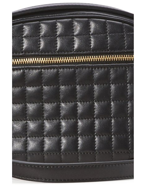 Celine C small model charm bag in quilted calfskin in black