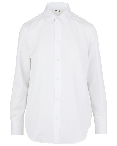 Celine Classic point collar shirt in white
