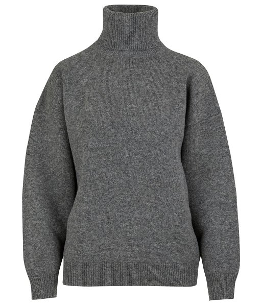 Celine Double-faced virgin wool and cashmere roll-neck jumper in medium grey